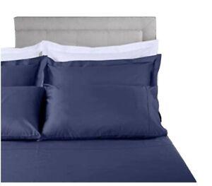 NEW Threadmill Home Linen Luxury Sateen 800 Thread Count Cal King Folkstone Blue