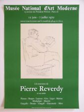 PICASSO Pierre REVERDY Affiche originale litho 70 Vert Portrait  Cubism Narbonne