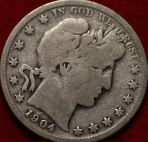1904 Philadelphia Mint Silver Barber Half Dollar