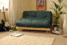 Double 4ft Luxury Futon 2 Seater Wooden Frame Sofa Bed Mattress in 11 Colours
