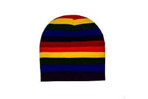 GAY & LESBIAN PRIDE RAINBOW BEANIE TOQUE HAT ..( RAI-TQ1-2 )..New