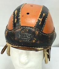 Vintage Leather Hutch Football Helmet