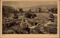 Trier an der Mosel alte Ansichtskarte 1922 datiert Blick auf die römischen Bäder