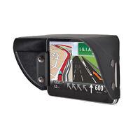 TFY Universal Leather Sun Shade Glare Visor Shield for Car GPS Navigator 5 inch