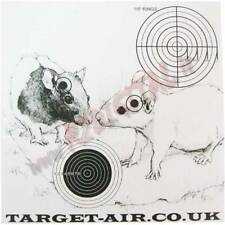 BERSAGLIO 14x14 TARGET-AIR RATTI CARTONCINI 50Pz SAGOMA SOFTAIR AIRGUN PIOMBINI