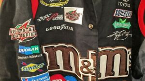 NASCAR M&Ms NEW OLD STOCK NEW WITH TAGS XXL JACKET COAT JH DESIGN KYLE BUSCH