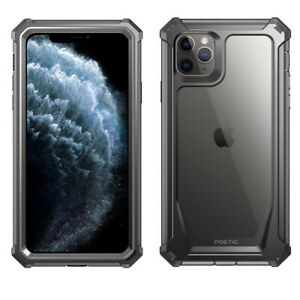 iPhone 11 Pro Max Case | Poetic Full-Body Hybrid Bumper Protector Cover Black