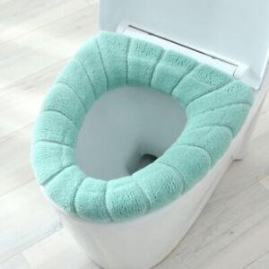 Universal Toilet Seat Cover Set Soft Warm Washable Mat Toilet Lid Accessories
