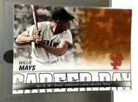 2012 Topps Willie Mays Career Day CD15 Insert San Francisco Giants