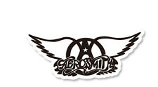 "AEROSMITH 4.25""x2"" travel suitcase luggage guitar drums decal vinyl sticker 1691"