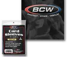 100 BCW Sports Card Sleeves for Thick Cards Penny Sleeves (1 Pack)