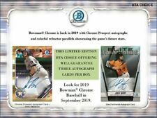 Bowman Chrome 2019 Baseball HTA Choice Hobby 12-Box Case