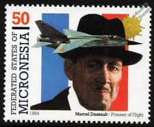 Marcel DASSAULT MIRAGE F1 / F1C Fighter / Attack Aircraft Stamp (French Flag)