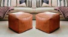 Set of 2 Moroccan leather pouf,ottoman pouf,moroccan pouf  express shipping