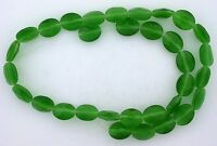 2 Strand Green 10x8 Faceted Oval Fiber Optic Bead CLOSEOUT CLEARANCE fobc39