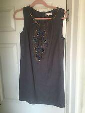 Grey Sequin Sleeveless Dress Size 12