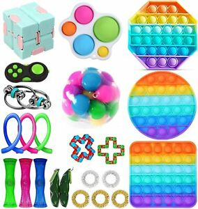 Fidget Toys Anti Stress Toy Set Strings Marble Relief Gift for Adults Girl Child