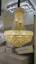 Modern Chrome E14 Bulb K9 Clear Crystal Chandelier Pendant Light 40*50cm