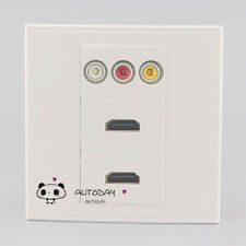 Wall Face Plate 3RCA AV + Dual HDMI Port Assorted Panel Faceplate Outlet Socket