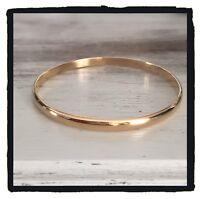 Bracelet Demi-Jonc Plaqué Or 18 Carats Bijoux Femme