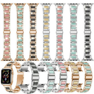 38-44mm Bling Stainless Steel Bracelet Straps for Apple Watch Band Series 6 5 3