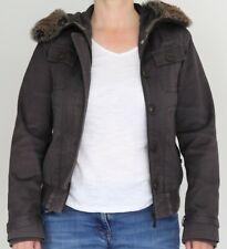 Women's TED BAKER Brown Winter Parka Coat Hooded Faux Fur Trim UK 12 EU 40 TED 3