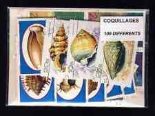 Coquillages - Shells 100 timbres différents oblitérés