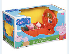CHARACTER PEPPA PIG DRIVE AND STEER FAMILY RED CAR KID'S REMOTE CONTROL TOY 18M+