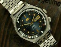 Détails sur Homme Bracelet Montre Orient SK Crystal Japon AUTOMATIQUE 21 jewels Vintage Serviced afficher le titre d'origine