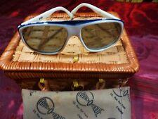 lunettes soleil vintage ,monture blanche ,unisexe  des années 50-60