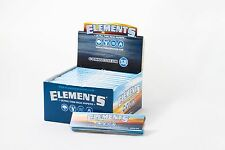 Full Box (24) Elements Connoisseur King Size Slim Rolling Papers With Tips Rice