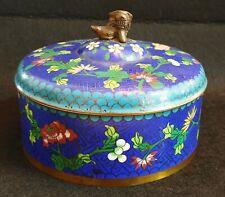 Antique Vintage Cloisonne Box With Foo Dog