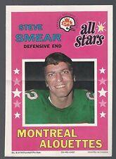 1971 o-pee-chee CFL Football All-Star Posters #9 Steve Smear / near mint