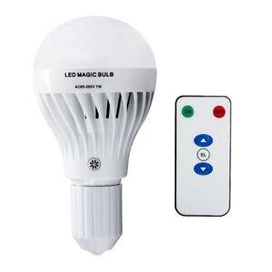 Well 7W E27 White LED Rechargeable Emergency Bulb Light Flashlight 85-265V