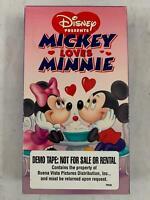 MICKEY LOVES MINNIE Disney VHS TAPE DEMO VERSION