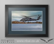 Framed 56th Rescue Squadron HH-60, 48th FW RAF Lakenheath Digital Artwork
