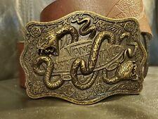 Vintage VANS Off The Wall Belt & Brass Buckle Snakes Skateboard WOW!