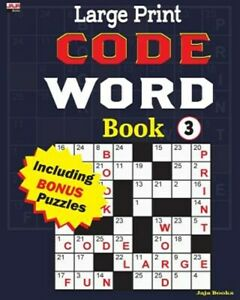 Large Print Code Word Book 3, Like New Used, Free P&P in the UK