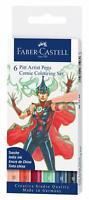 Faber-Castell Comic Illustration Pen Set Colours 6pk