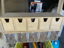 More details for ikea forhoja wooden/glass storage drawers
