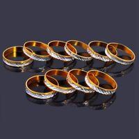100pcs Wholesale Jewelry Lots Bulk Mixed Coloured Style Women Band Rings Jewelry