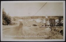 Quoddy ME Rice Hill Administration Building Maine RPPC Postcard 1941 Eastport ME