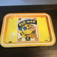 Vintage 1980 Pac-Man Midway Arcade Game Collapsible Metal Food Tray