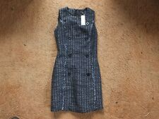 Warehouse WOMEN Button Front ,Tweed Dress New Size UK 8 With Tag