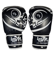 LSM Boxing Gloves MMA Punching Bag Sparring Muay Thai Fight Training 16oz UFC