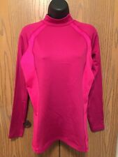 Reebok Atheltic Top Womens Size L Long Sleeve Pink Play Dry Stretch Shirt