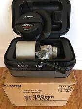 Canon EF 200mm 200 f/2L f/2.0 f2.0L f2L IS USM Image Stabilized.