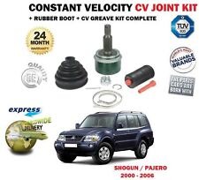 FOR MITSUBISHI SHOGUN 2.5 3.2DT DiD 3.5 2000-2006 CONSTANT VELOCITY CV JOINT KIT
