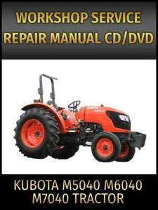 Kubota M5040 M6040 M7040 Tractor Service Repair Manual on CD