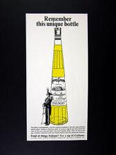 1968 Galliano Italian Liqueur big bottle art vintage print Ad